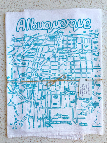 ABQ Map Tea Towel