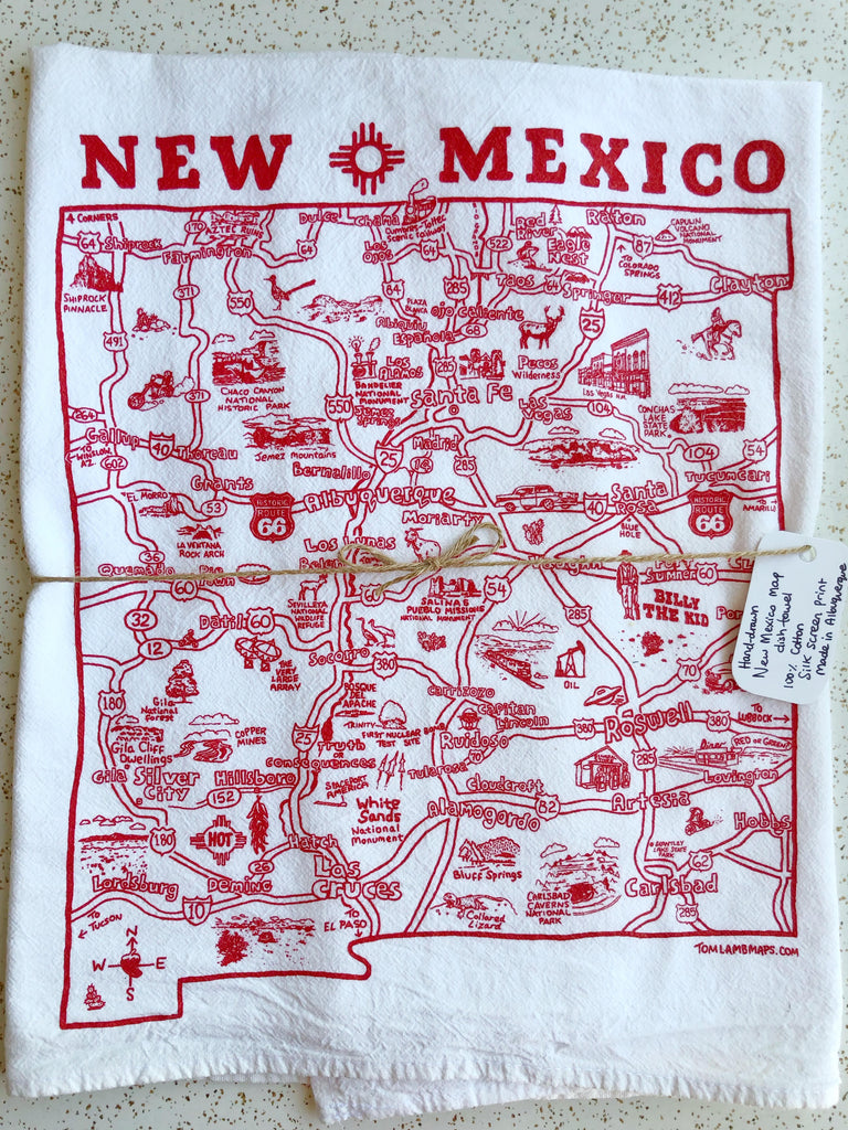 NM Map Tea Towel