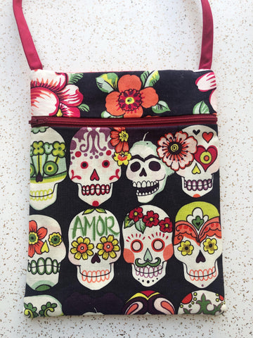 Sugar Skull Frida Kahlo Purse