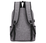 Rear view usb backpack