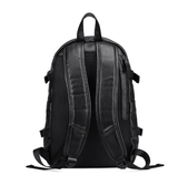 Waterproof Leather Backpack with USB Charger