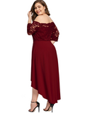 Plus Size Off Shoulder Party Dress