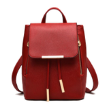 Versatile Faux Leather Backpack