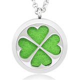 Clover Essential Oil Diffuser Necklace