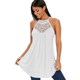 Solid Hollow Out Crochet Top