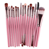 15 Pc. Brush Set with Cosmetic Bag