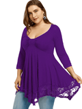 Plus Size Tunic With Lace