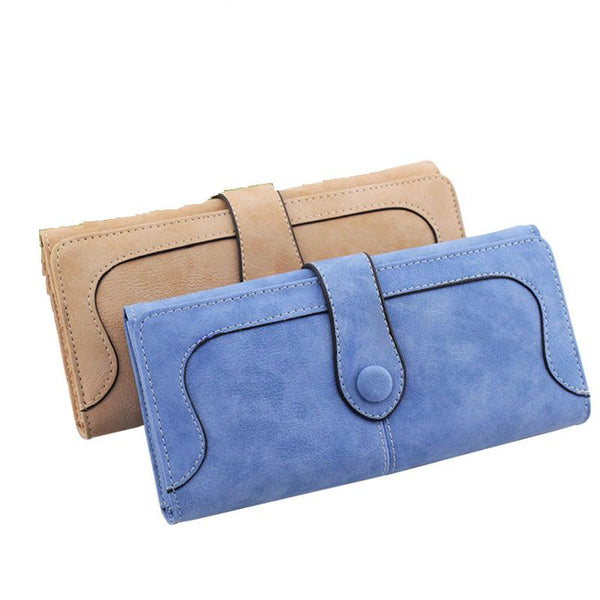 Faux Suede Wallet