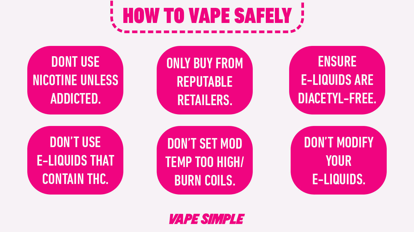 how to vape safely