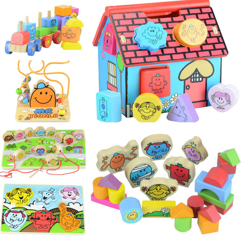 Mr Men & Little Miss Wooden Toy Range