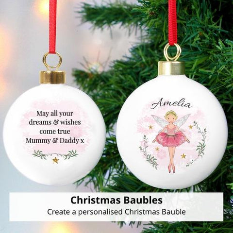 Shop Now - Personalised Christmas Baubles