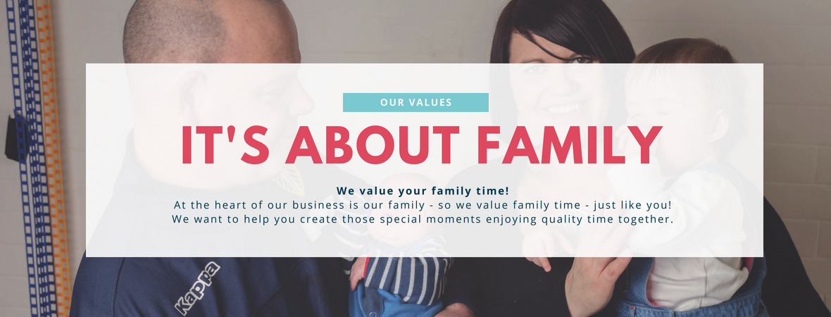 Junior Bambinos Values - It's about Family Time