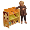 Jungle Toy Storage Shelf with Plastic Bins