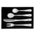 Teddy - Personalised Embossed 4 Piece Cutlery Set