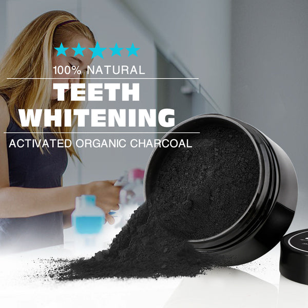 Natural Teeth Whitening - Coconut Activated Charcoal