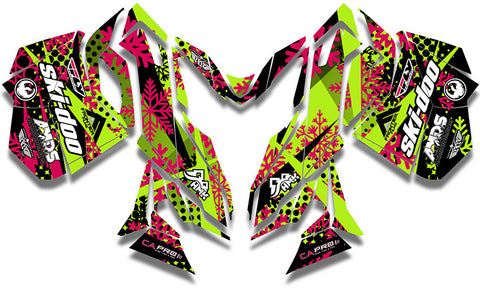 Ashley Chaffin Freeride Ski-Doo REV-XM Sled Wrap - SCS Unlimited
