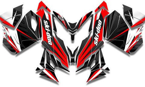 Carbon Red Sled Wraps - SCS Unlimited