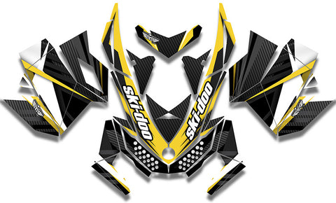 Carbon Yellow Sled Wraps - SCS Unlimited