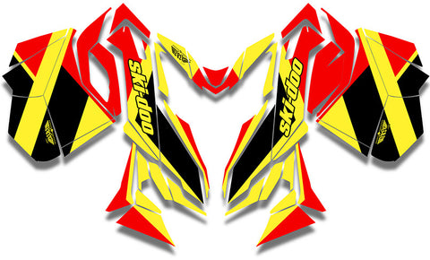 Locator Ski-Doo REV-XM Sled Wrap - SCS Unlimited