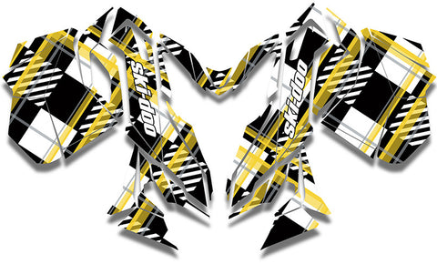 Plaid Out Ski-Doo REV-XM Sled Wrap - SCS Unlimited