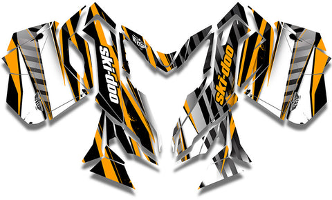 Unlimited Orange Ski-Doo REV-XM Sled Wrap - SCS Unlimited
