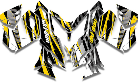 Unlimited Yellow Sled Wraps - SCS Unlimited