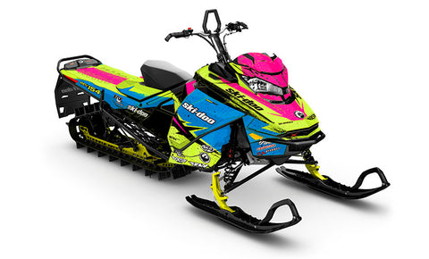 Ashley Chaffin Shred BL Ski-Doo Gen4 Sled Wrap - SCS Unlimited