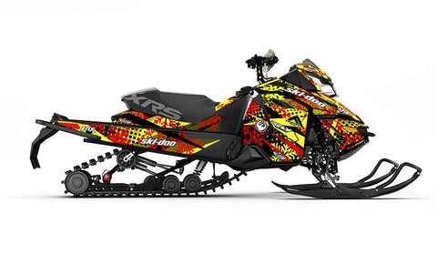 Ashley Chaffin Yellow REV-XS Sled Wrap Decal