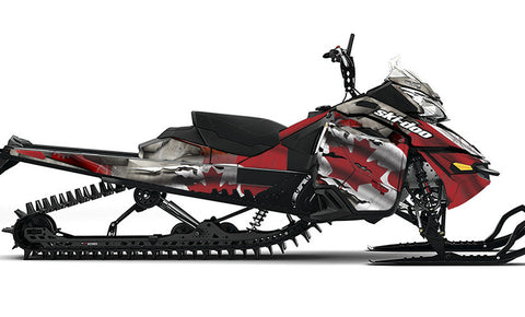 Canadian Colors Ski-Doo REV-XM Sled Wrap - SCS Unlimited