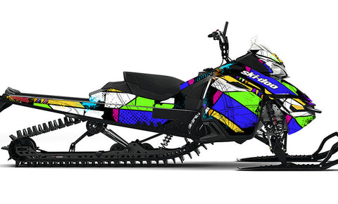 Color Burst Ski-Doo REV-XM Sled Wrap - SCS Unlimited