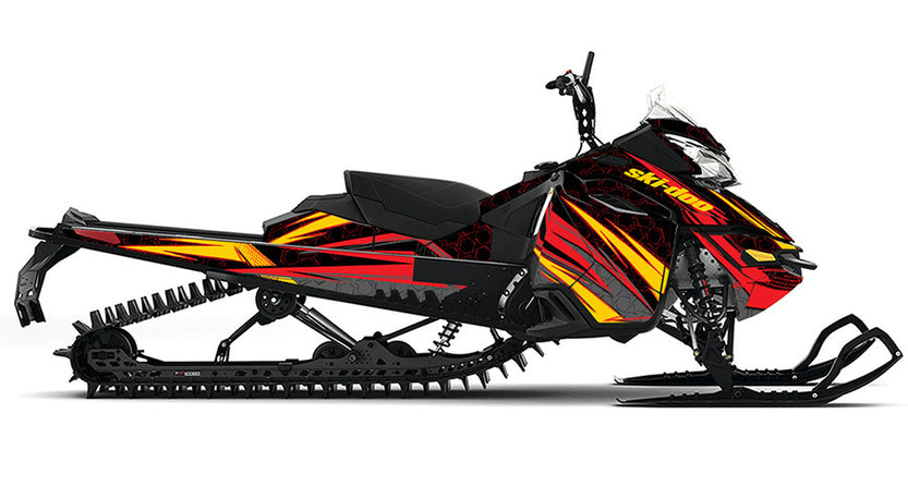 Cubic Ski-Doo REV-XM Sled Wrap - SCS Unlimited