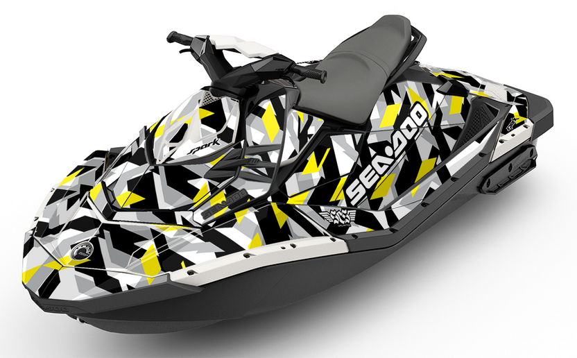 Cubism Dream Yellow Sea-Doo Spark - SCS Unlimited