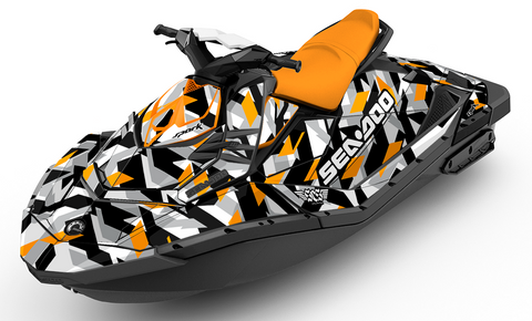Cubism Dream Orange Sea-Doo Spark - SCS Unlimited