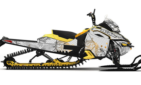Easy Rider Orange Ski-Doo REV-XM Sled Wrap - SCS Unlimited