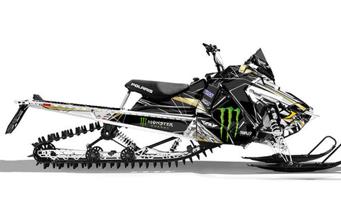 Frisby Doble Gold | Polaris AXYS Snowmobile Sled Wraps & Graphics