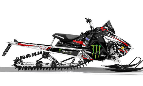 Frisby Double Red | Polaris AXYS Snowmobile Sled Wraps & Graphics
