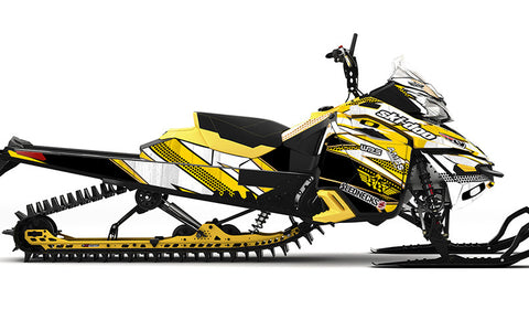 Frisby Gold REV-XM Sled Wrap Decal