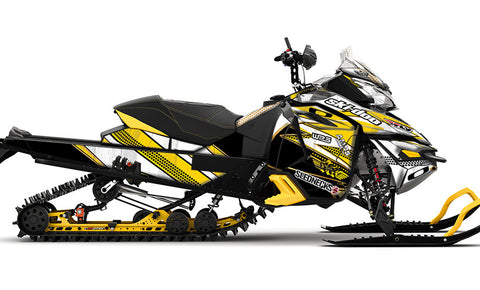 Frisby Gold REV-XS Sled Wrap Decal