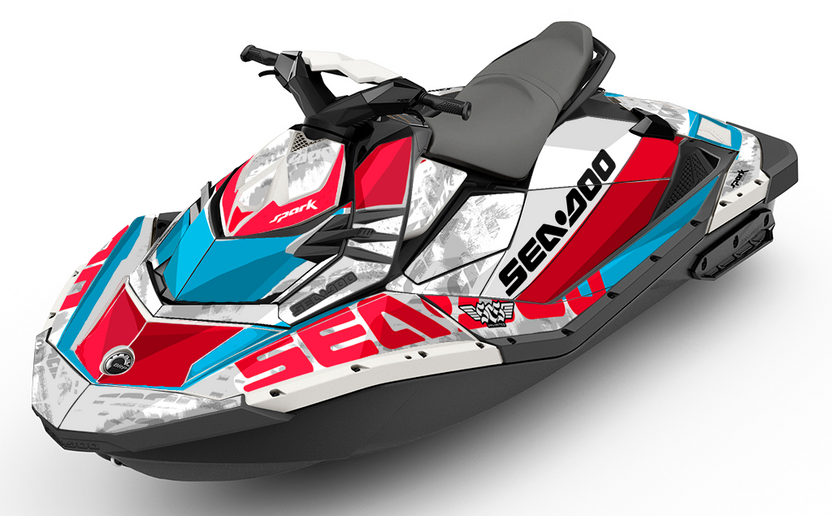 Lowdown | Sea-Doo SPARK Graphics kit and Wraps - SCS Unlimited