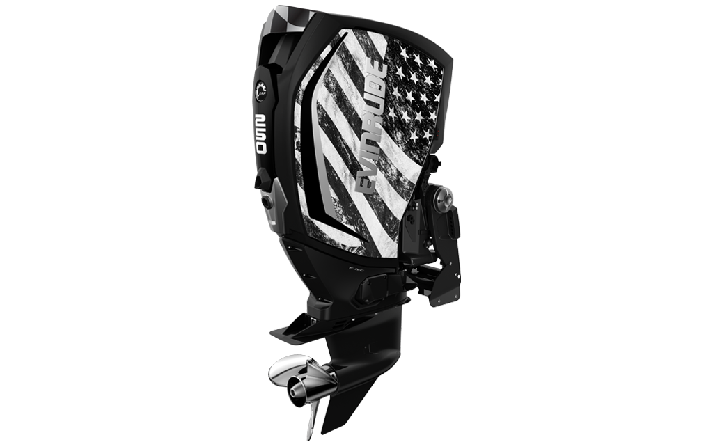 American Flag Evinrude Panel Wrap