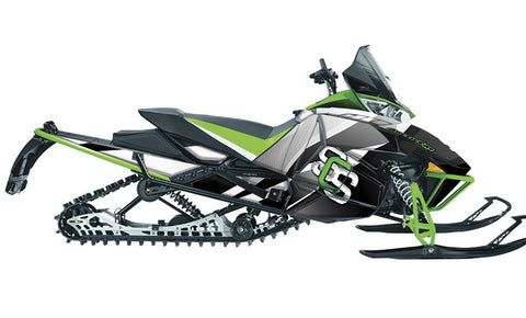 MLB Green  Arctic Cat Pro Climb Sled Wraps