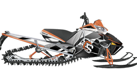 MLB Orange  Arctic Cat Pro Climb Sled Wraps