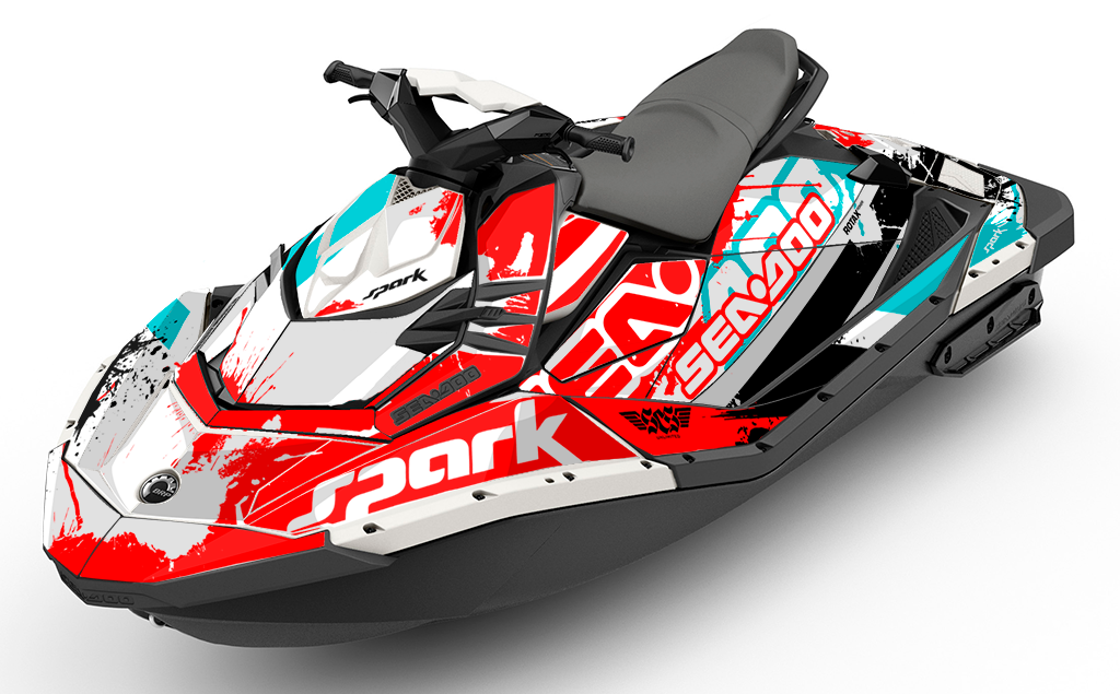 Overtime Trixx Sea-Doo SPARK Graphics Kit