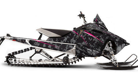 Pink Digi Camo PRO-RMK Sled Wraps Decals