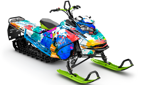 Powder Color Ski-Doo Gen4 Sled Wrap - SCS Unlimited
