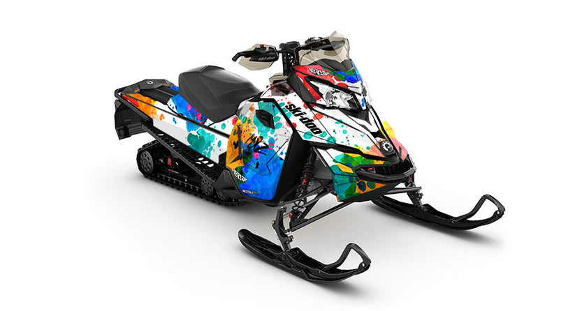 Powder Color REV-XS Sled Wrap Decal