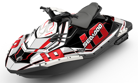 Racing Numbers Black Sea-Doo SPARK Graphics Kit