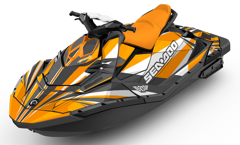 Rays Orange Sea-Doo SPARK Graphics Kit