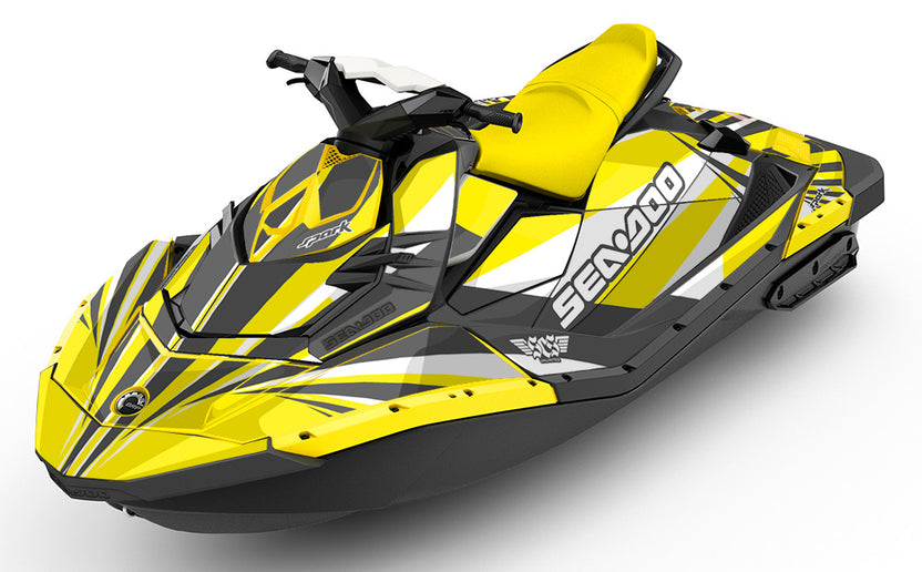 Rays Yellow Sea Doo Spark Graphics Kit And Wraps Scs