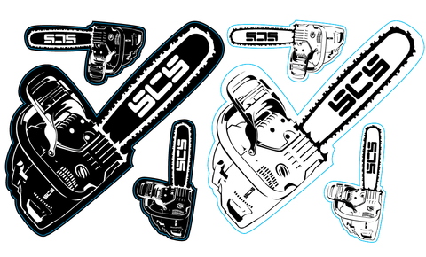 Chainsaw Pack Sticker - SCS Unlimited